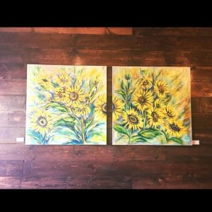 Sunflowers I, II